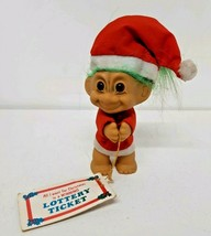 "Russ Troll 4"" Christmas Santa Claus Suit Hat Elf Winning Lottery Ticket ... - $11.87"