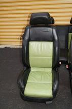00-04 Volkswagen Vw Beetle Bug Hatchback Turbo GLS Leather Seat Set Green & BLK image 4