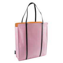 Clinique Solid Pink with Black Handles (Orange Inside) Big Tote Beach Bag - $12.00