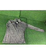 Nike Women's Dri-Fit 1/4 Zip Running Sweatshirt, Charcoal Gray, Small - $34.99