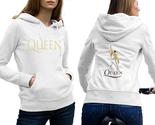 Queen band hoodie classic women white thumb155 crop