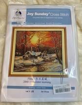 "Joy Sunday Counted Cross Stitch Kit ""The Winter Morning"" Sunset House Open - $22.16"