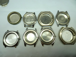 LOT OF 8 BENRUS STAINLESS STEEL WATCH CASES FOR RESTORATION PARTS ABSORBER - $159.64