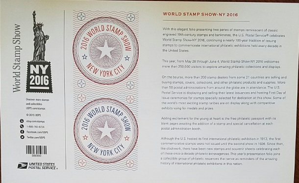 New! The World Stamp Show New York 2016:  (USPS)  FOREVER Stamps 24