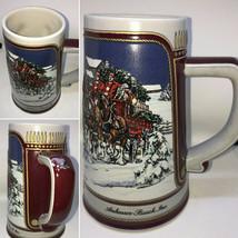 BudWeiser 1989 Rare Mug Christmas Collector's Series Limited Holiday Edi... - $29.99
