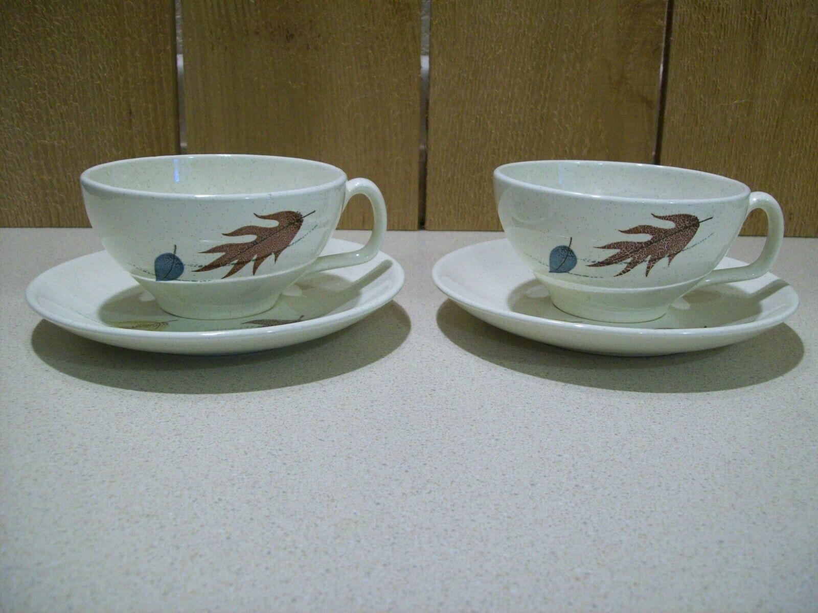 Vintage Franciscan Autumn Leaves Cup & Saucers California USA 1955-66 Lot of 2   - $33.66