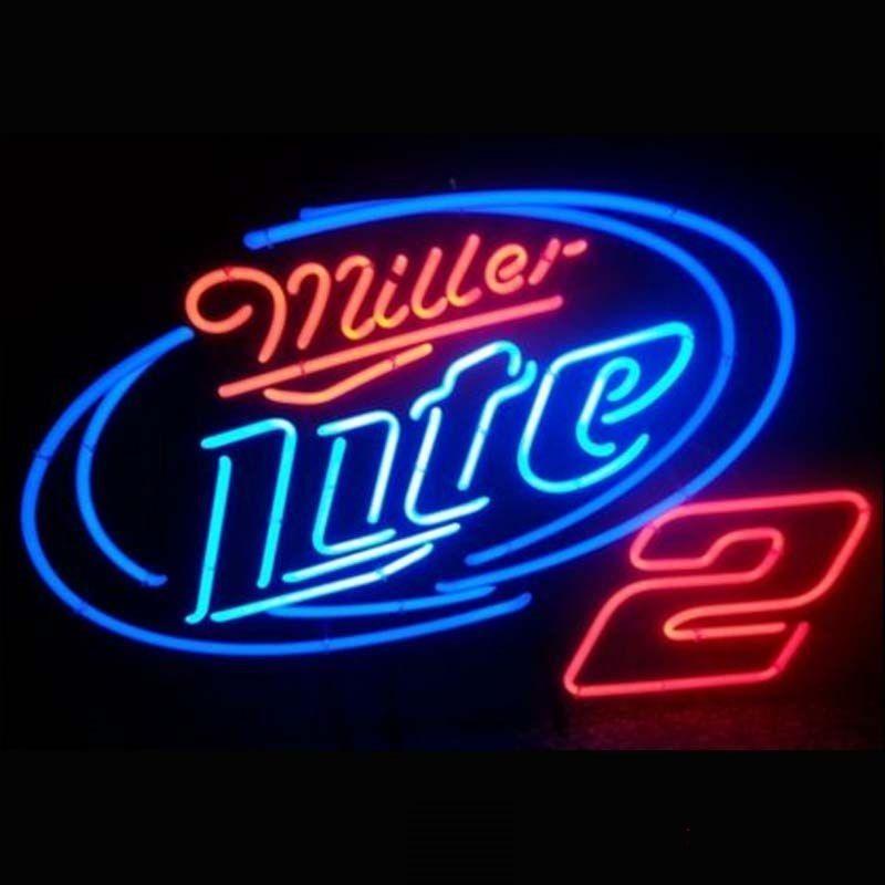 "New Miller Lite NHRA Racing #2 Neon Sign 24""x20"" Ship From USA"