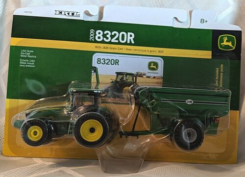 John Deere TBE45236 ERTL 8320R Tractor With J and M Grain Cart