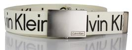 New Calvin Klein Men's Premium CK Logo Cotton Adjustable 38mm Canvas Belt 73545 image 6