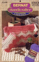 Coral Cosmetic Bag & Change Purse Bernat Crochet Pattern Leaflet NEW - $3.57