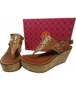 $295 Tory Burch Dale Cork Wedge Thongs Sandals Shoe Flip Flops 9.5 Rocks... - $129.00
