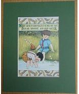 """Mary Engelbreit Print Matted 8 x 10 """"Good Health...Fresh Air...Good Wate... - $16.40"""