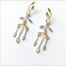 New 2017 Korean Accessories Fashion Vintage Acrylic Leaf Drop Long  Earr... - $9.76