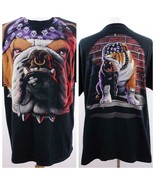 Bulldog Biker Black Graphic T Shirt Mens Sz 2XL - $24.09