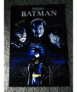 Batman Returns Cast Autographed Photo Jack Nicholson Michelle Pfeiffer - $495.00