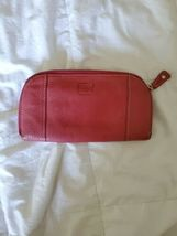 FOSSIL Zip Around Pebbled Leather Wallet Clutch Pink image 8