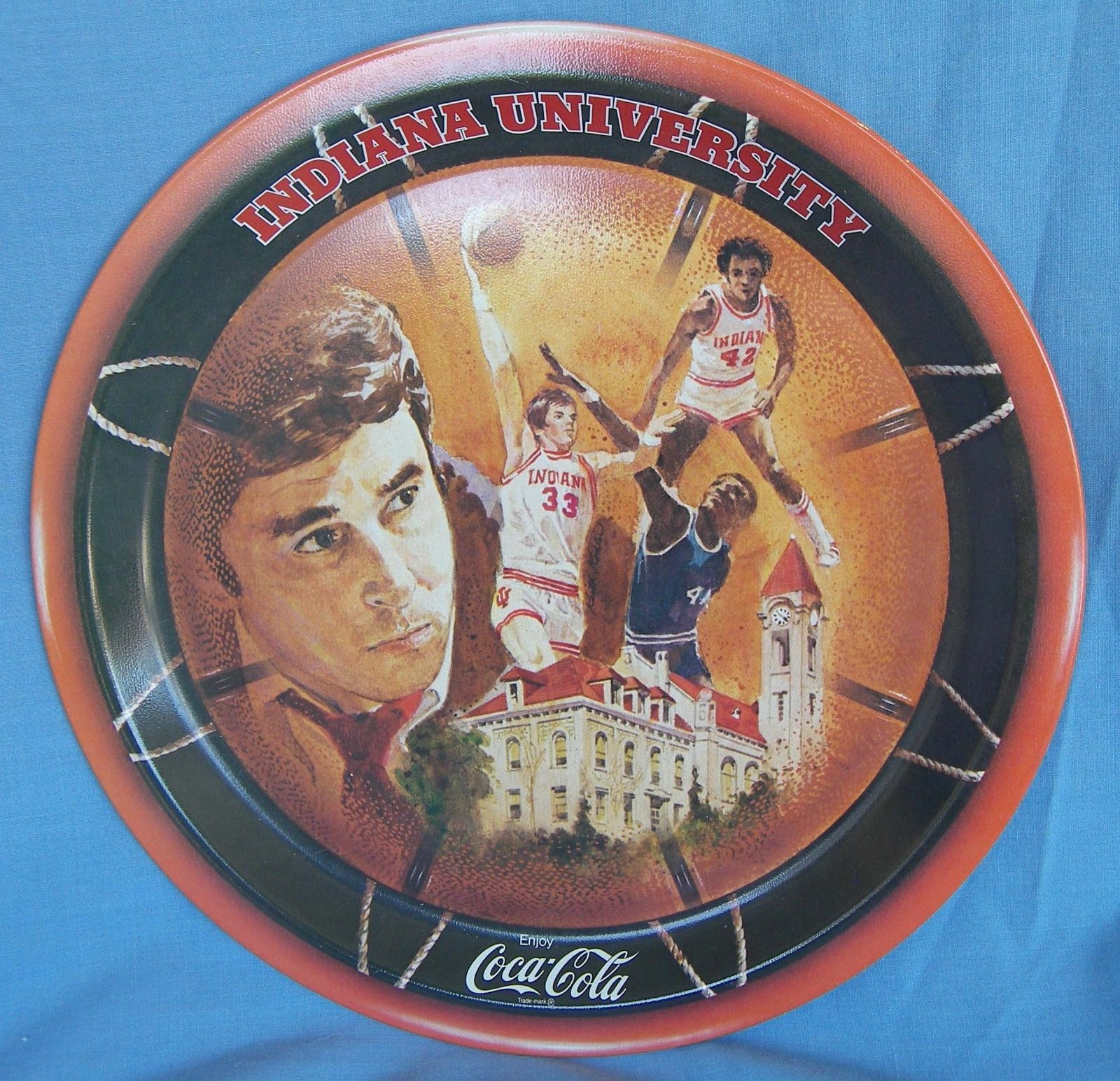 Primary image for Coca Cola Coke Tray 1976 Indiana University NCAA Basketball Championship