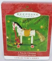 Hallmark Keepsake Christmas Ornament A Pony For Christmas Series 3 - $10.39