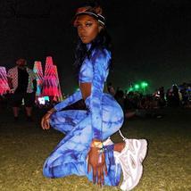 Simenual Sporty Workout Casual Women 3 Piece Set Tie Dye Fashion Active ... - $39.38