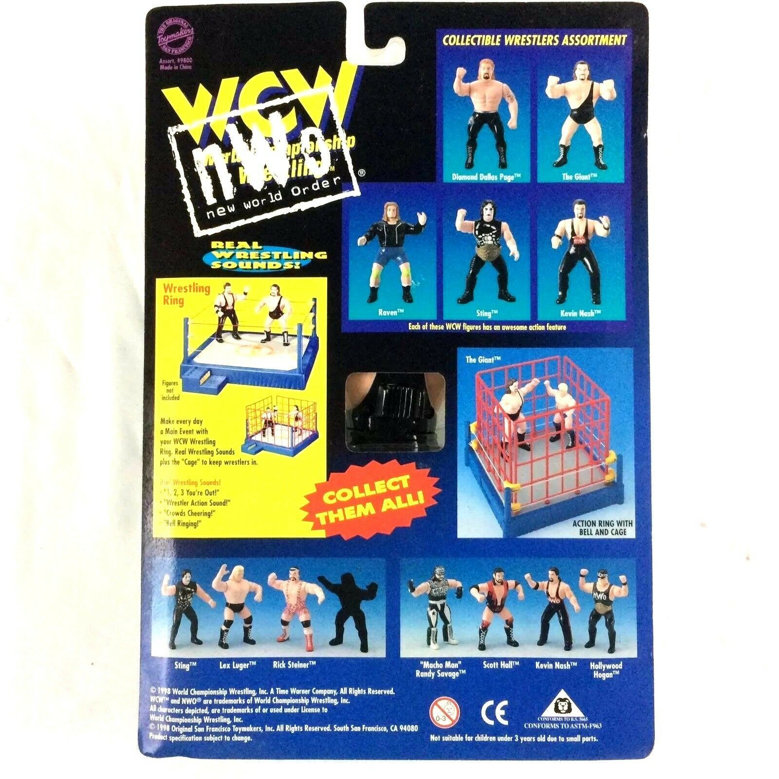 Kevin Nash WCW NWO Action Figure 1998 OSF Toymakers WWE Sealed Original