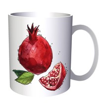Hand Painted Pomegranate 11oz Mug m765 - $10.83