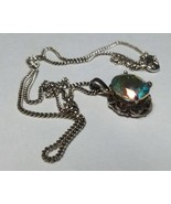 """Beautiful Vintage Genuine Topaz on a Pure Silver 9"""" Chain - Made in Italy. - $46.53"""