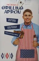 NEW Grill Chef Apron Star Stripe Red White Blue KN109 - $19.31