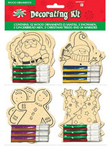 amscan Color-Your-Own Christmas Wooden Ornament Kit, 12 Ct. - $30.28