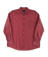 INC Intenational Concepts Men's Red Button Down Adjustable Sleeve Shirt ... - $29.99