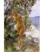 Anders Zorn - After the Bath - Google Art Project - 24x32 inch Canvas Wa... - $51.99