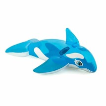 """Inflatable Whale Pool Ride-on Floating Water Swim Toys for Kids 60"""" x 45"""" - $28.66"""