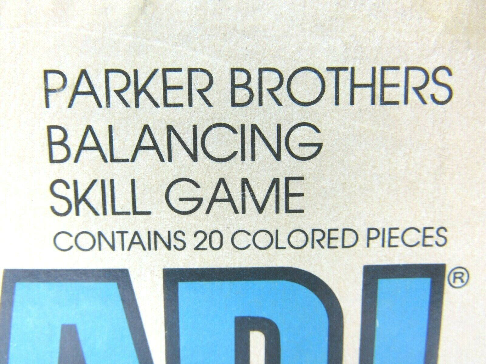 VINTAGE Block Head Parker Brothers Balancing Skill Game 1979 USA Made COMPLETE