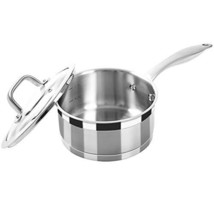 Duxtop Professional Stainless Steel Sauce Pan with Lid, Kitchen Cookware, Induct