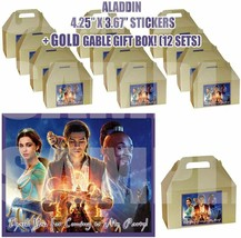 Aladdin Movie Jasmine Party Favor Boxes Thank you Decals Stickers Loots ... - $24.70
