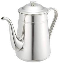 Kalita Silver 2.2 Liter Stainless Steel Coffee Pot Tea Kettle FREEshipWo... - $82.03