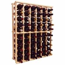 Solid Pine Wood Wine Rack Holds 66 Bottles Floor Storage Display Cellar ... - $186.02