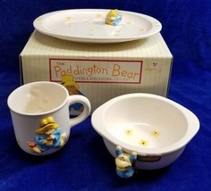 Paddington Bear 3 pc Childs Dish Set Ceramic Eden Toscany Made in Japan ... - $29.92