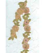 Elaborate Vintage Pale Cocoa and Gold Flower Lace Trim - $7.99