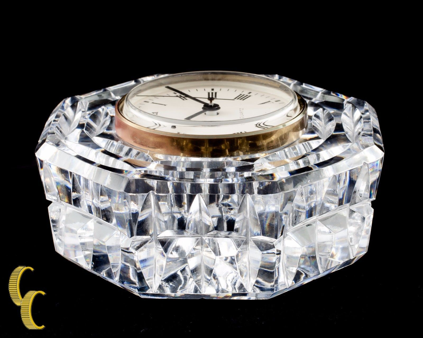 Primary image for Waterford Crystal Octogon Quartz Mantle Clock Nice!
