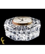 Waterford Crystal Octogon Quartz Mantle Clock Nice! - $59.40