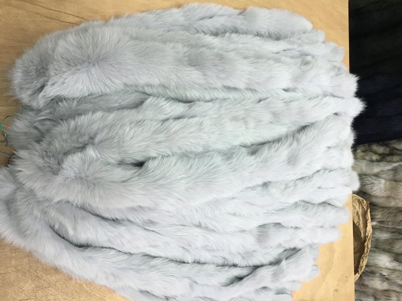 Light grey Fox Fur Stripes Trim