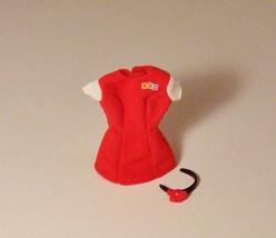 Barbie Doll Fashion Clothes ABC Corduroy Dress Red Headband Flower - $5.99