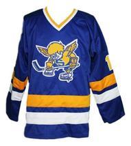 Boudreau #19 Minnesota Fighting Saints Retro Hockey Jersey New Sewn Any Size image 4