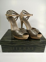 "Moda Spana 10M Bronze/Pecan 'Zack' 5"" Stiletto Heels  - $23.21"