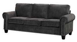 "Homelegance Cornelia 86"" Fabric Sofa, Dark Gray - $965.07"