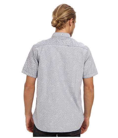 Mens button down short sleeve m-ecko shirt