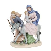 5.75 Inch Flight To Egypt Joseph and Mary Religious Statue Figurine - $85.54