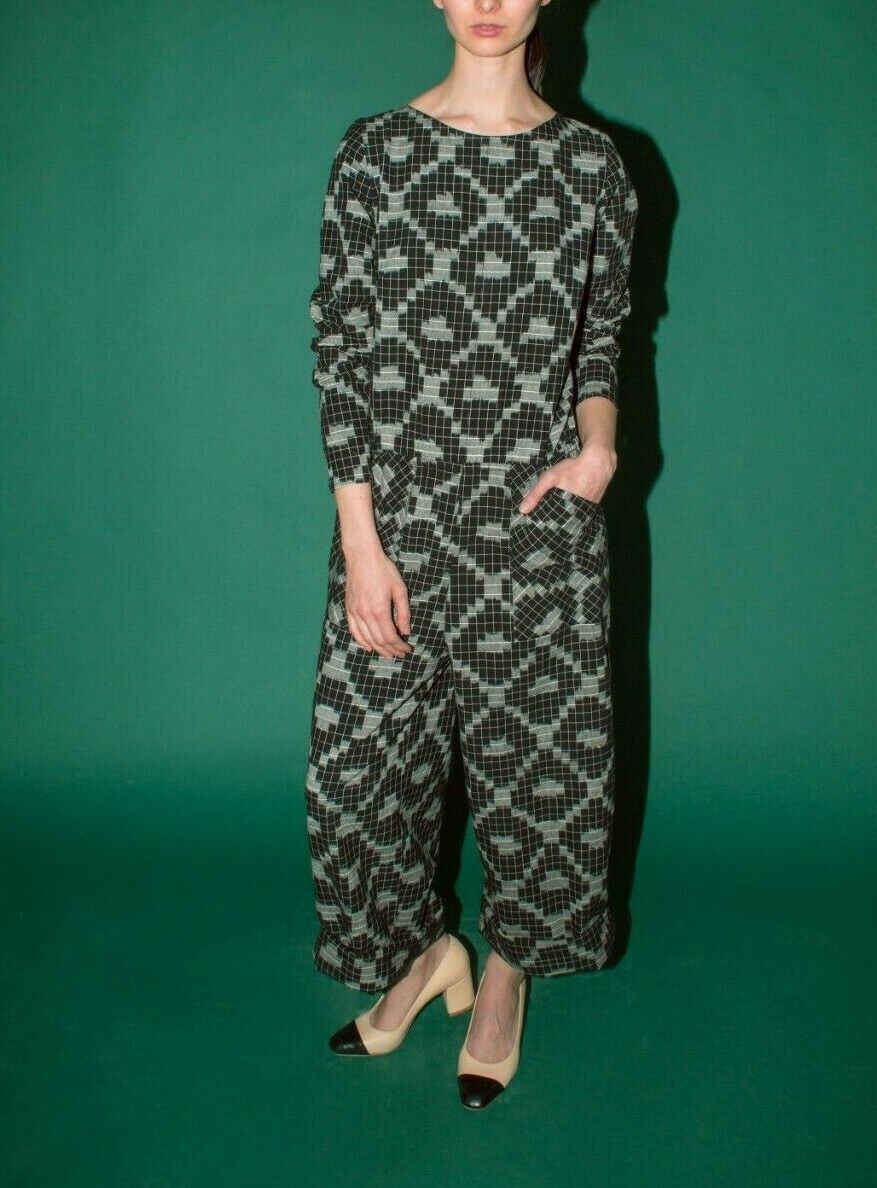 Anthropologie Loy Long Sleeve Jumpsuit by Liam of York $348 Sz L - NWT