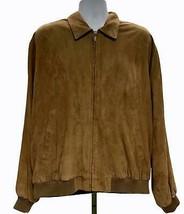 Golden Bear Bomber Jacket Zip Front Butter Soft Suede Coat Size XL Mens ... - $68.99