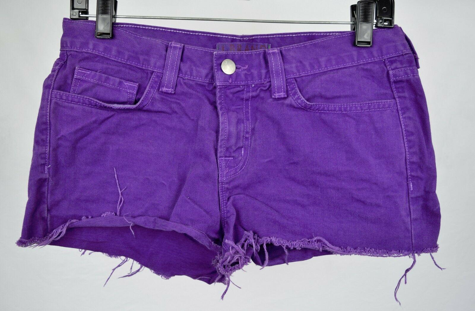 J Brand 7037 Bright Purple Cut Off Short Jeans 26 Womens USA image 6